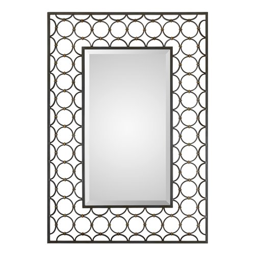 Uttermost Leveen Iron Rings Mirror