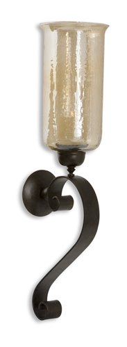 Uttermost Joselyn Bronze Candle Wall Sconce