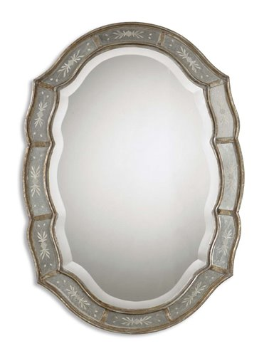 Uttermost Fifi Etched Antique Gold Mirror
