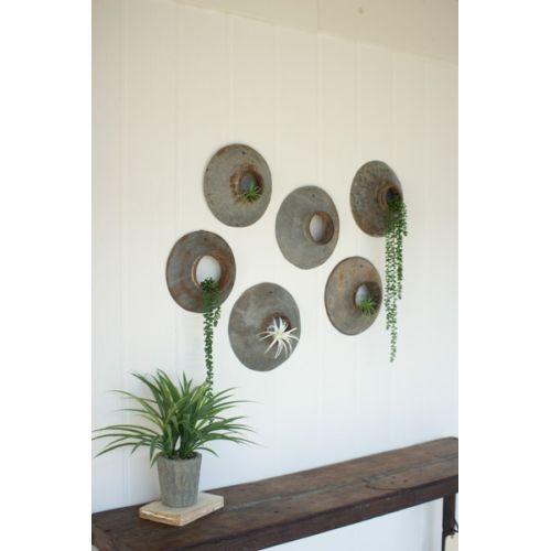 Repurposed Metal Wall Hangings Set of 6