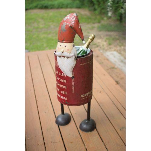 Recycled Iron Santa Cooler