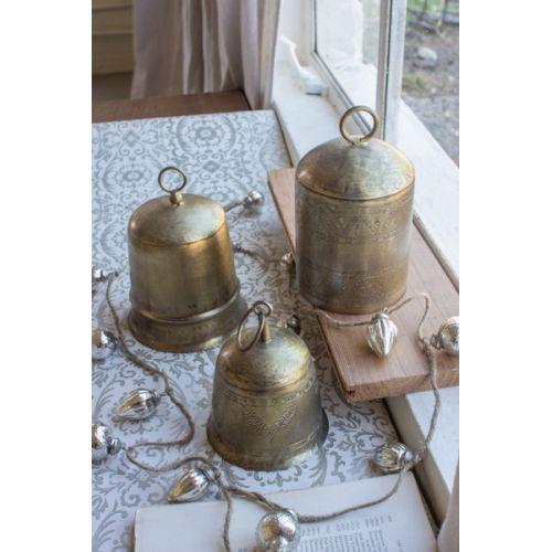 Brass Finish Bells Set of 3