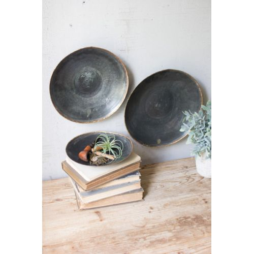 Black Copper Platters Set of 3