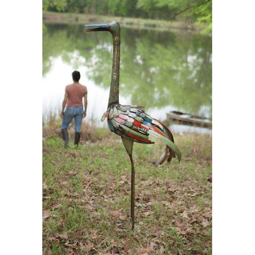 Recycled Tall Iron Bird
