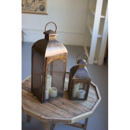 Bronze Lanterns Set of Two
