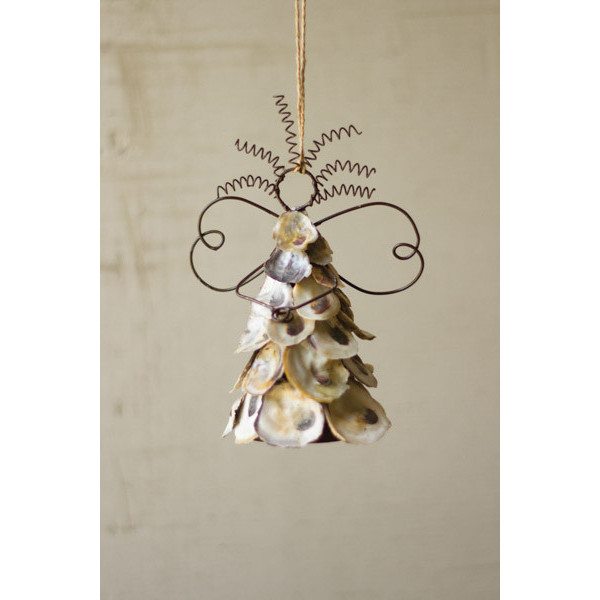 Oyster Shell Angel Ornaments Set Of 6