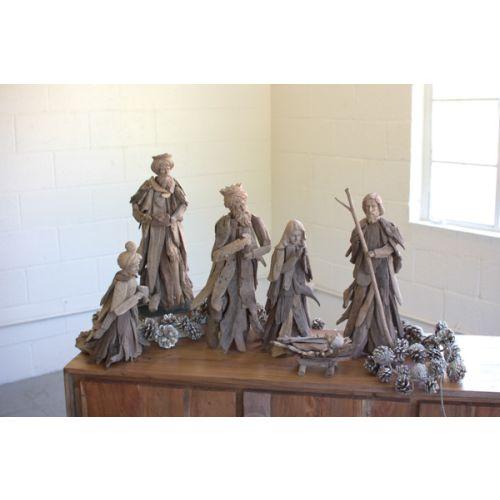 Driftwood Nativity Set of 6