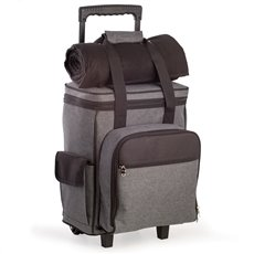 4 Person Poly Canvas Picnic Trolley with Plastic Lined Cooler
