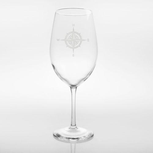 Compass Rose Glasses, Set of 4