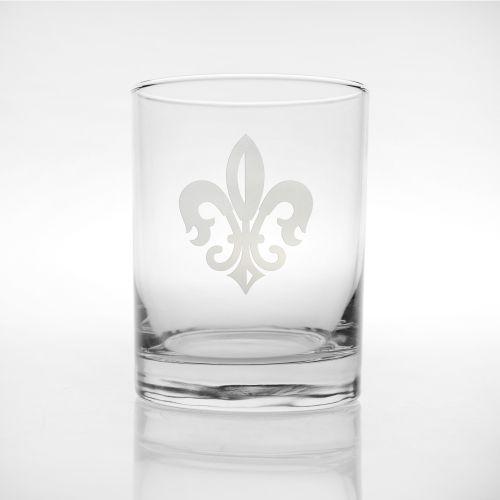 Grand Fleur De Lis DOF Glasses, Set of 4