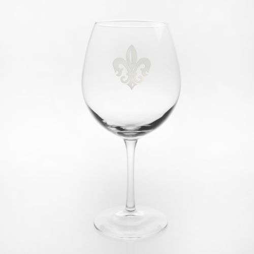 Grand Fleur De Lis Balloon Wine Glasses, Set of 4
