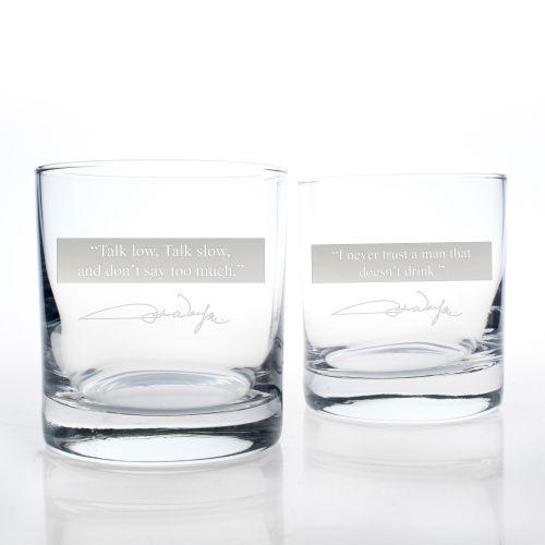 John Wayne Quotes Series 1 OTR 11Oz Glasses, Set of 2