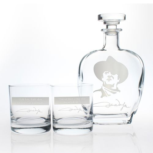 John Wayne Quotes Series Decanter & OTR Glasses, Set of 3