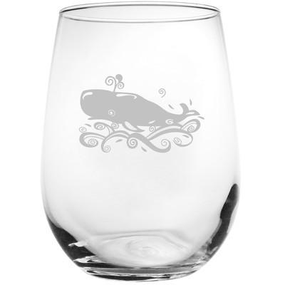 Whale 17 Oz. Stemless Wine Glass