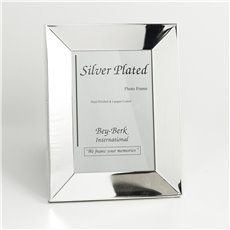 Silver Plated 5x7 Picture Frame with Easel Back