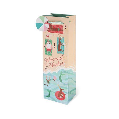 Warmest Wishes Single-bottle Wine Bag by Cakewalk