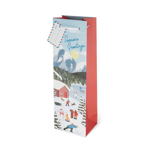 Seasons Greetings Single-bottle Wine Bag by Cakewalk