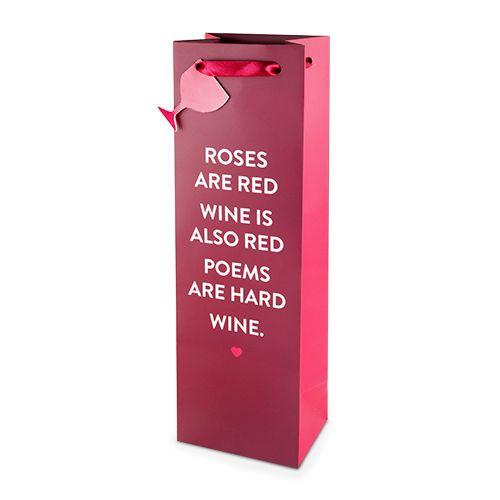 Wine Poem 750ml Bottle Bag By Cakewalk
