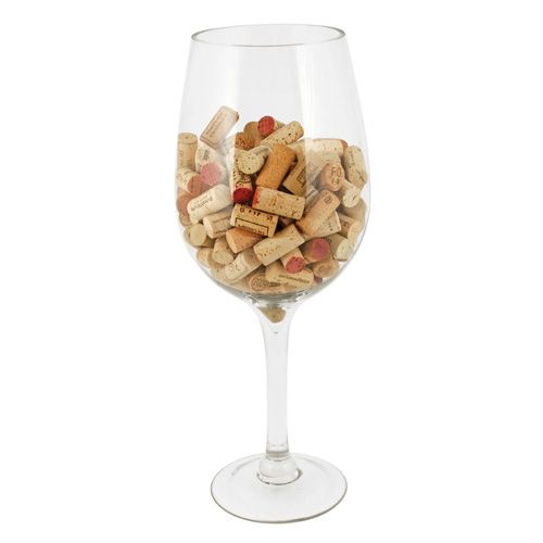 Big Bordeaux Glass: Cork Holder