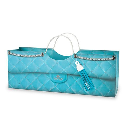 Turquoise Quilted Wine Purse Bag