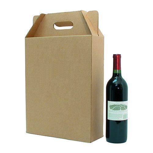 3 Bottle Corrugate Wine Carryout