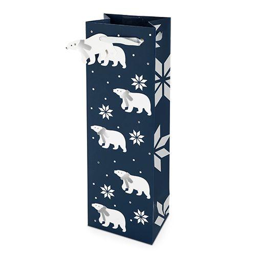 Polar Bear Pattern 750ml Bottle Bag By Cakewalk