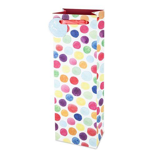 Watercolor Dot Wine bag
