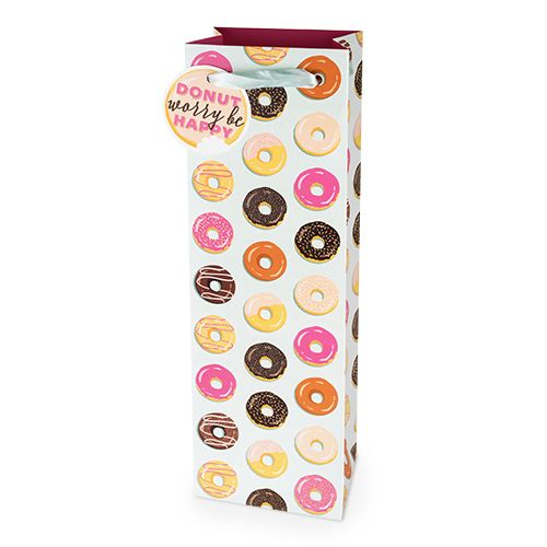 Donut Pattern 750ml Bottle Bag By Cakewalk