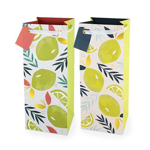 Assorted Lemon & Lime 1.5L Bottle Bag By Cakewalk