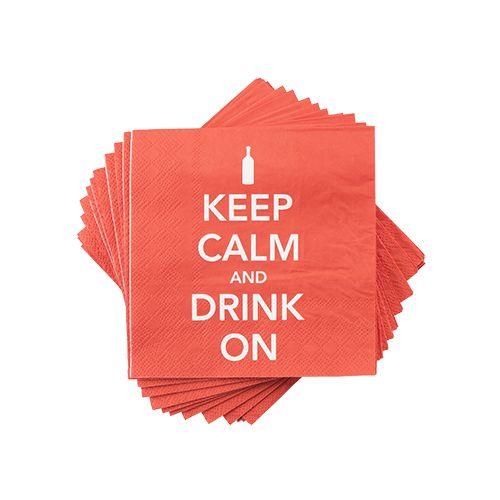 Keep Calm Napkin by Cakewalk
