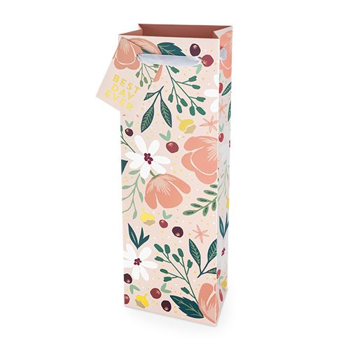 Best Day Ever Floral 750ml Bottle Bag By Cakewalk