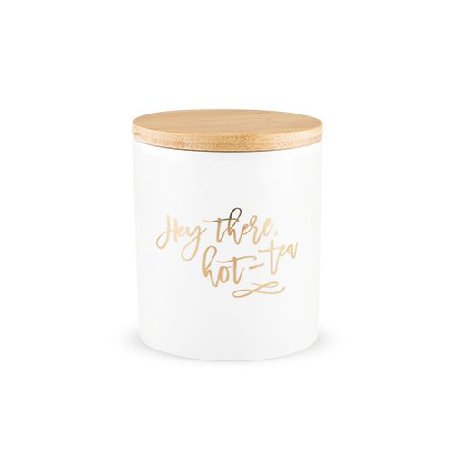 Hey There, Hot-Tea Tea Canister by Pinky Up