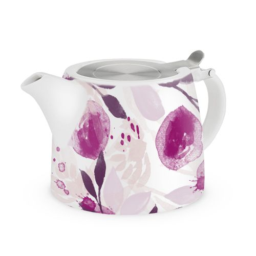 Harper Berry Floral Ceramic Teapot & Infuser by Pinky Up
