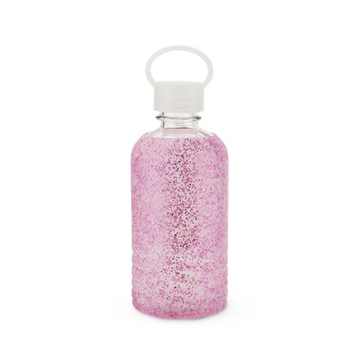 Glimmer: Pink Glitter Silicone Water Bottle by Blush