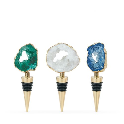Gilded: Assorted Geode Stoppers by Blush