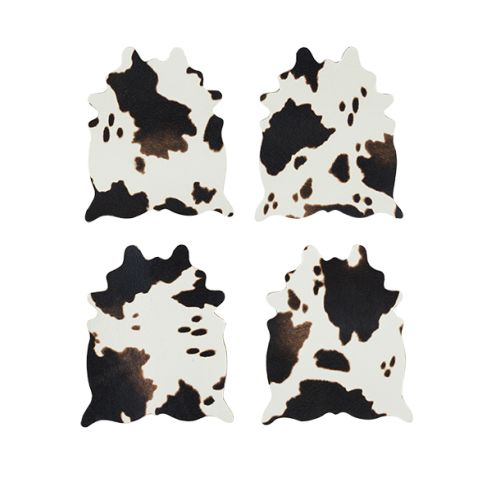 Cowhide Coaster Set by Foster & Rye