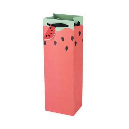 Watermelon Single Bottle Wine Bag