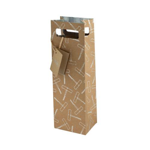 Foil Corkscrew Single-Bottle Wine Bag by Cakewalk