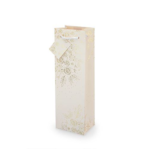 Floral Lace Single-bottle Wine Bag by Cakewalk