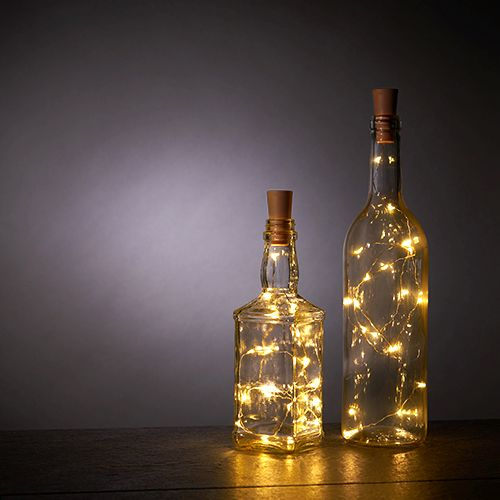 Warm White Bottle String Lights - Set of 2 by True