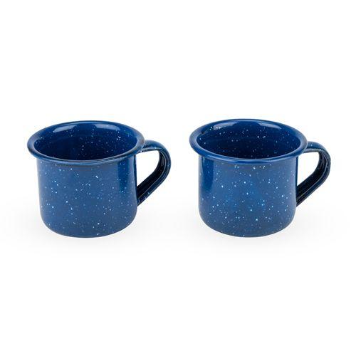 Blue Enamel Shot Glass Set by Foster & Rye