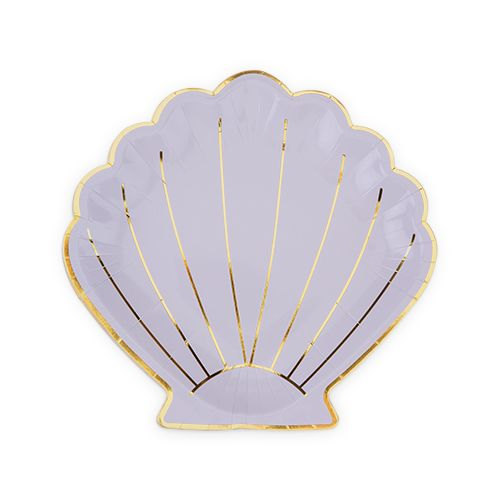 Shell Appetizer Plate by Cakewalk - Set of 8