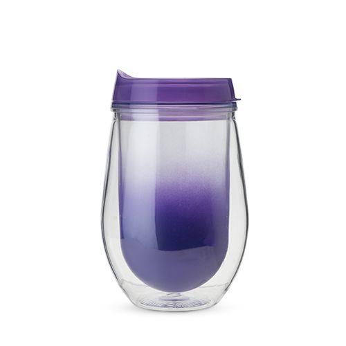 Traveler Double Walled Wine Tumbler in Purple Ombre by True