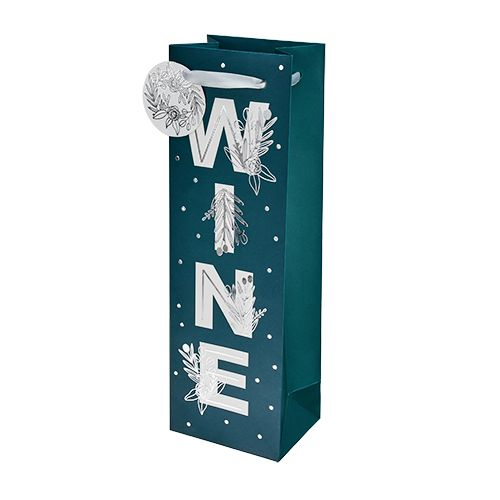WINE Floral Single-Bottle Wine Bag by Cakewalk
