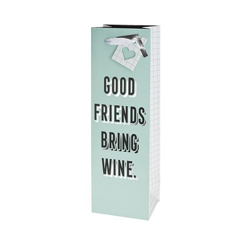 Good Friends Bring Wine Single-Bottle Wine Bag