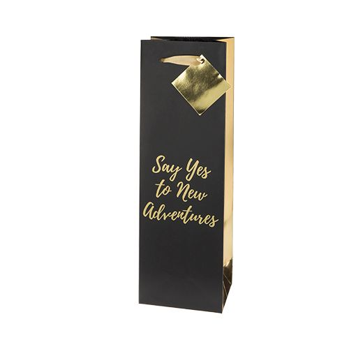 Say Yes To New Adventures Single-Bottle Wine Bag by Cakewalk