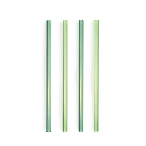 Woodland Green Glass Straws by Twine