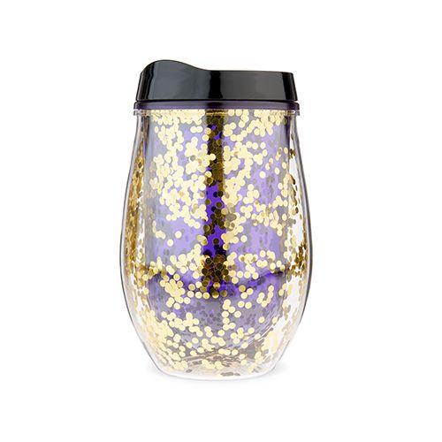 Violet Glitter Stemless Wine Tumbler by Blush