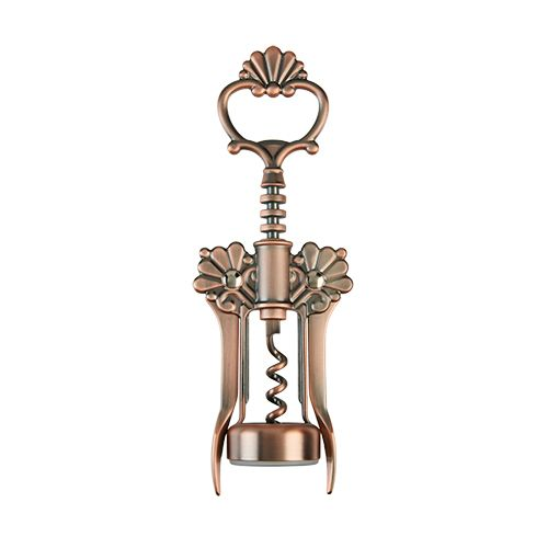 Brushed Copper Filigree Winged Corkscrew by Twine