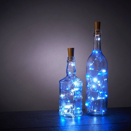Blue & White Bottle String Lights - Set of 2